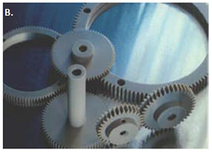 Plástico Moderno - B. Engrenagens para equipamentos de Raios-X [Fonte: VICTREX].